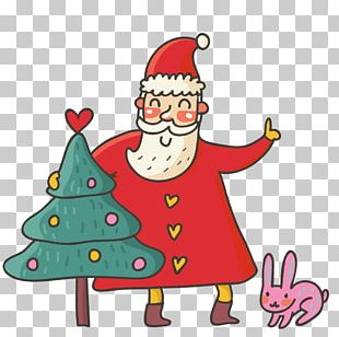 Santa Claus Christmas Card Cartoon PNG