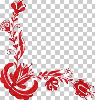 Flower Red Floral Design PNG