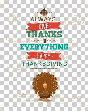 Thanksgiving Poster PNG