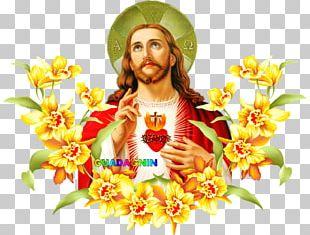 Jesus Cut Flowers Easter Floral Design PNG