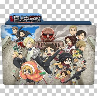 Attack On Titan: Junior High Anime Eren Yeager Mikasa Ackerman PNG