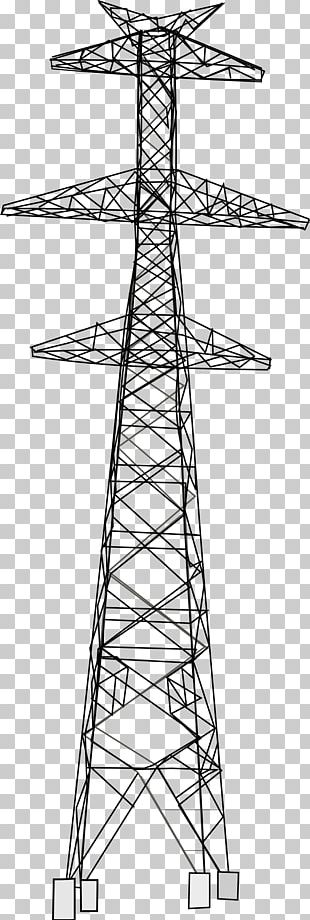 Electricity Overhead Power Line High Voltage Transmission Tower Insulator PNG