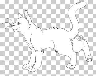 Whiskers Cat Fauna White Sketch PNG