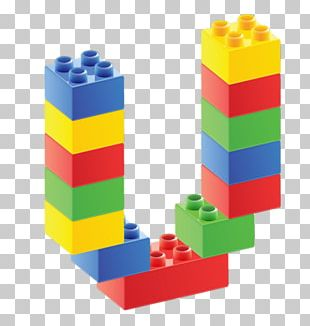 Lego Duplo Toy Block Letter PNG