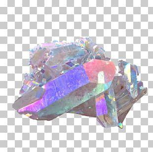 Holography Metal-coated Crystal Crystal Cluster Quartz PNG
