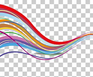 Rainbow Lines Euclidean PNG