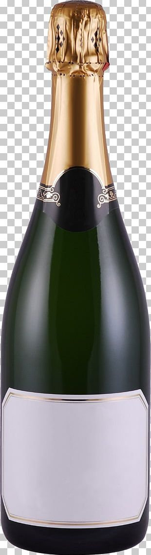 Prosecco Champagne Bottle PNG