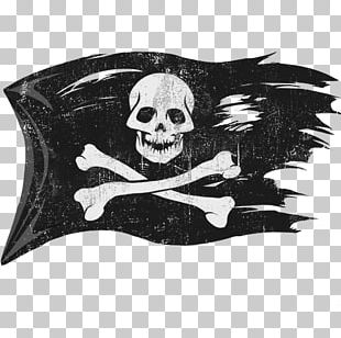 Jolly Roger Piracy Flag PNG