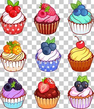 Cupcake Muffin Gugelhupf Cartoon PNG