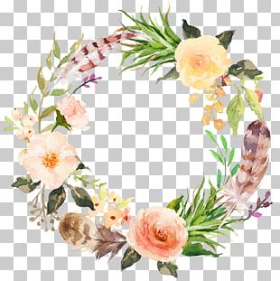 Floral Design Flower Watercolor Painting Garland Wreath PNG