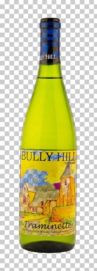 Liqueur Glass Bottle White Wine Bully Hill Traminette Finger Lakes 750ml PNG