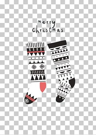 Santa Claus Christmas Stocking Christmas Card Illustration PNG