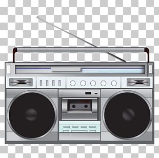 Radio 80s Illustration PNG