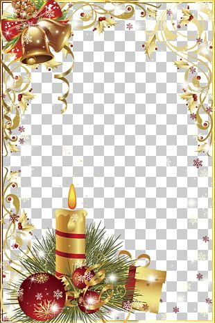 Christmas Frame Graphic Design PNG