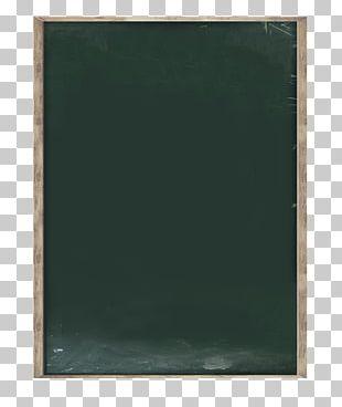 Green Frame Blackboard PNG
