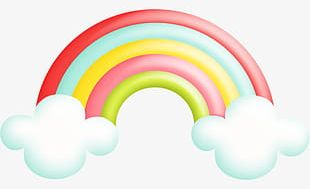 Graphic Design Creative Rainbow Birthday PNG