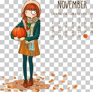 Calendar November Illustration PNG