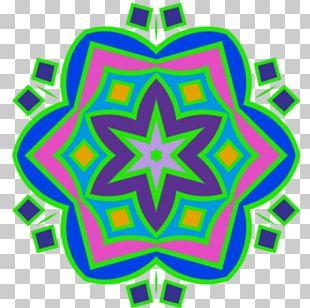 Symmetry Kaleidoscope Green Line Pattern PNG