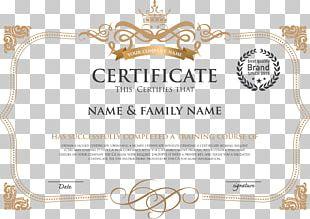 Template Academic Certificate Diploma PNG