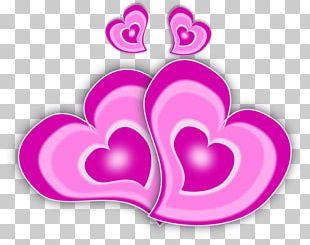 Love Heart Magenta PNG