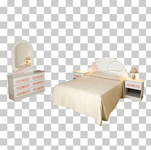 Bed Frame Bedroom Table Furniture Mattress PNG