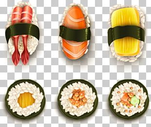 California Roll Sushi Japanese Cuisine Illustration PNG