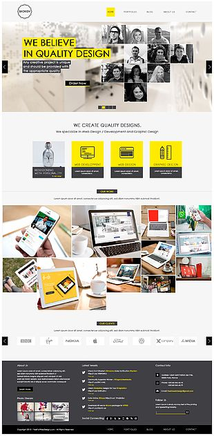 Responsive Web Design Web Template System PNG