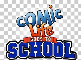 Comic Life Comics School Education Logo PNG