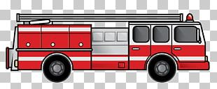 Fire Engine Red Truck PNG