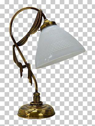 Art Nouveau Light Fixture Table Glass PNG
