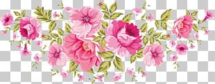 Wedding Invitation Pink Flowers Rose PNG