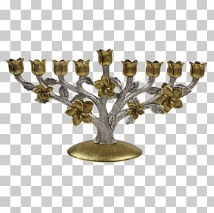 Menorah Hanukkah Jewish Ceremonial Art Shabbat Seven Species PNG