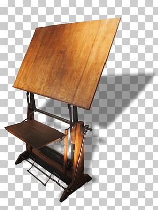 Table Desk Drawing Furniture Wood PNG