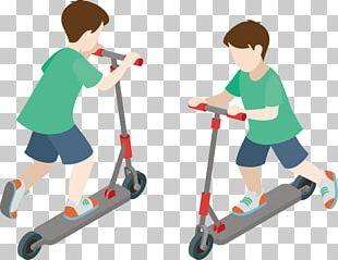 Amusement Park Recreation Vehicle Kick Scooter PNG