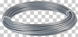 Steel Wire Galvanization Hose Silver PNG