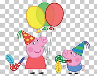 Daddy Pig Mummy Pig Party Paper PNG