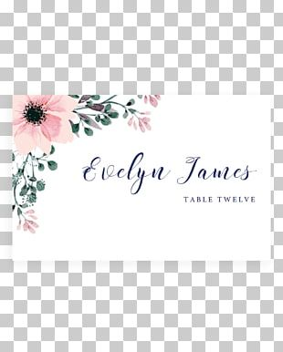 Wedding Invitation Flower Place Cards Greeting & Note Cards PNG