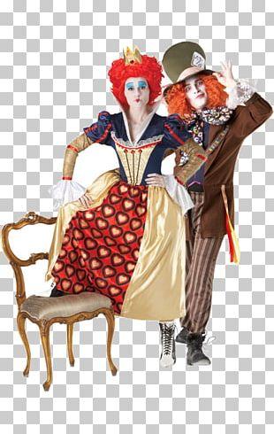 Queen Of Hearts Red Queen Mad Hatter Costume Alice In Wonderland PNG