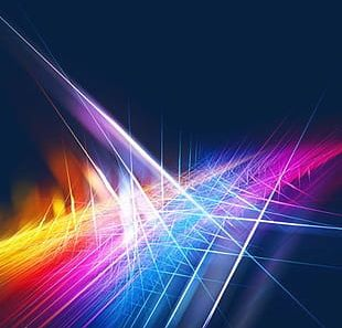 Particle Dynamic Light Effect Background PNG