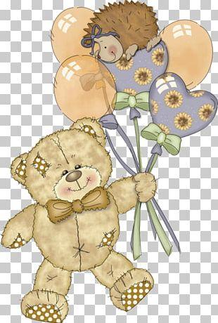 Teddy Bear Birthday Torte PNG