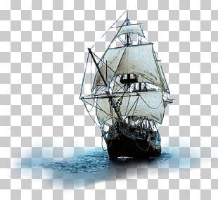 Sailing Ship Brigantine Boat PNG