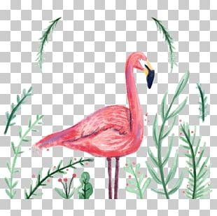 Flamingo Wedding Invitation PNG