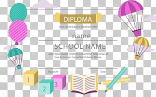 School Diploma Academic Certificate Graphic Design PNG