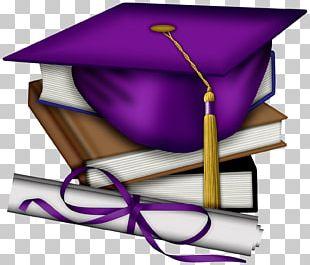 Sheffield High School Graduation Ceremony Square Academic Cap Purple PNG