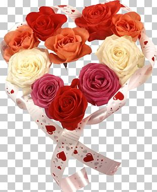 Valentine's Day Gift Flower Bouquet PNG