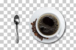 Cup Of Coffee And Spoon PNG