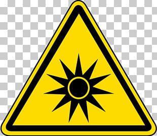 Laser Safety Hazard Symbol Sign PNG