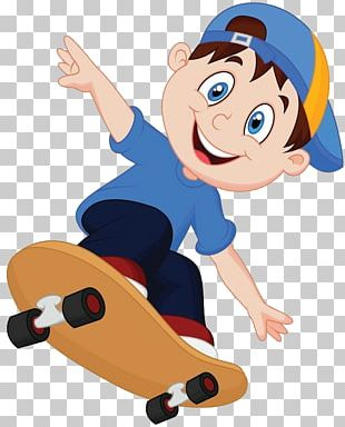 Cartoon Skateboarding PNG
