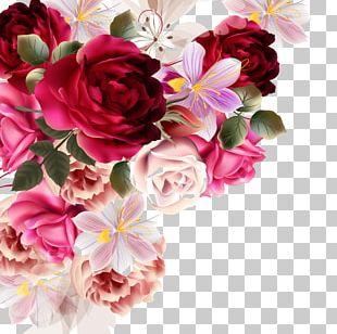 Flower Bouquet Rose Drawing PNG