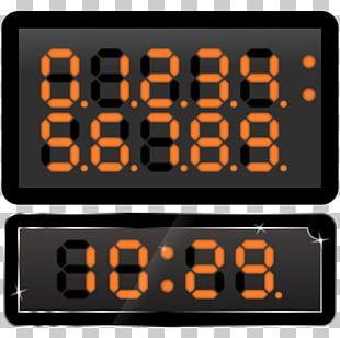 Timer Display Device Digital Clock Digital Data PNG